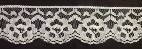 "Clearance 9373 2"" Ivory flat Lace  REDUCED  TO CLEAR"