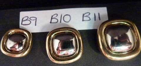 Clearance B9-B10- Two Tone Square Button
