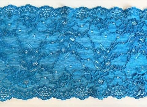 """Clearance Stretch Lace 37 - 6 1/2"""" Airforce Blue Lace"""
