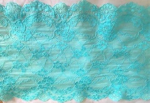 """Stretch Lace 45 - 7"""" Turquoise Lace"""