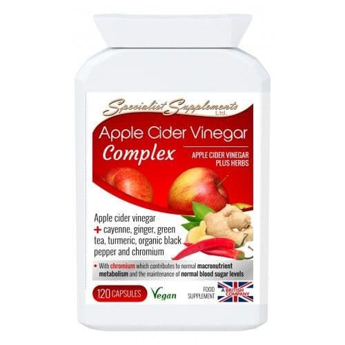 Apple Cider Vinegar Complex, Vegan Food Supplement With Added Herbs