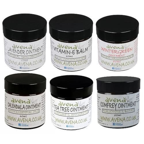 Avena Set of 6 Natural Ointments 60ml