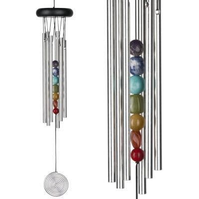 Chakra Wind Chime- Featuring 7 Stones for the 7 Chakras. 45cm Long