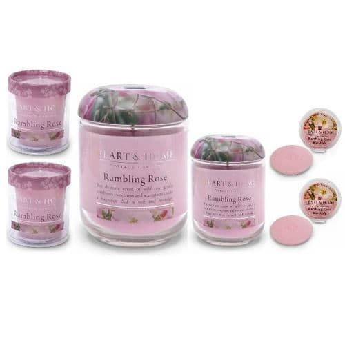 Rambling Rose Heart & Home Fragrance Gift Set 6 Piece