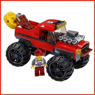 LEGO City Monster Truck + Magnetic Lifting Arm & Big Betty Crook Minifigure Gift