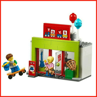 LEGO City Toy Shop Store & 2 Minifigures Train Town Christmas Scene Gift