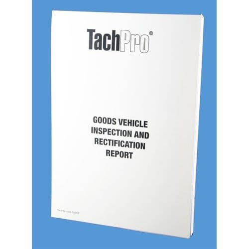 HGV Goods Vehicle 6 weekly Inspection Pad WEB123