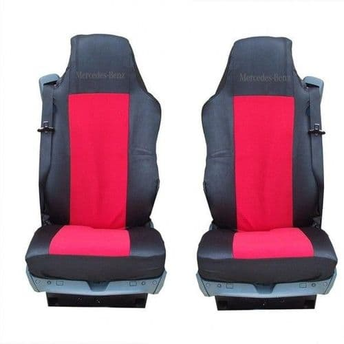 Mercedes Axor Actros Atego Washable  Red Seat Cover set WEB111