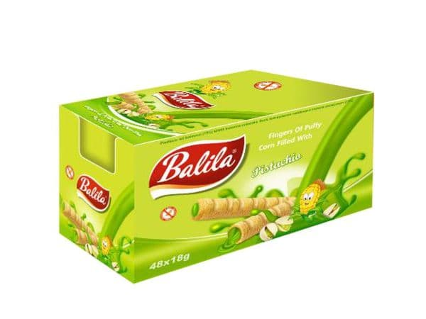 Balila Gluten Free Corn Tube case - Pistachio Cream pack