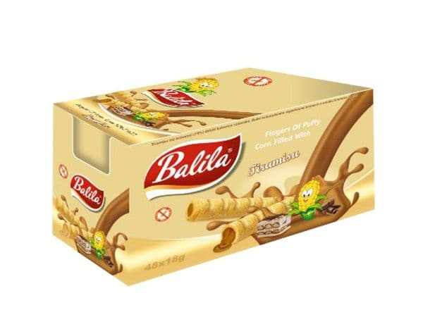 Balila Gluten Free Corn Tube case - Tiramisu Cream pack