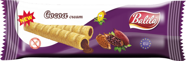Balila Gluten Free Corn Tube - Cocoa Cream (box of 8)