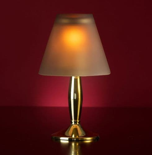 Bella Gold Lamp Stand With Grey Glass Shade