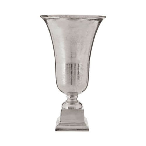 Candace Nickel Bell Shaped Plinth  Vase - H53cm