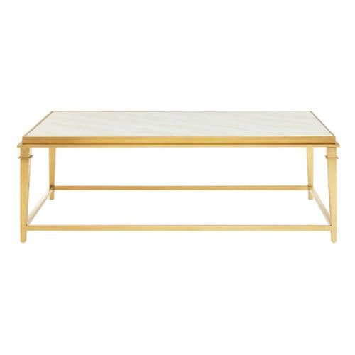 Celine White Marble & Gold Coffee Table