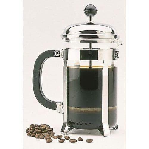 Classic Chrome Cafetiere - 12 Cups Extra Large