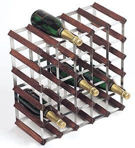 Dark Pine 30 Bottle Wine / Champagne Rack