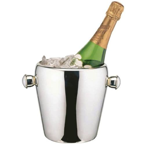 Deluxe Curved Rolled Rim Wine Bucket -  H19cm