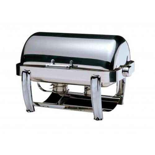 Deluxe Oblong Roll-Top Chafing Dish / Chrome Legs