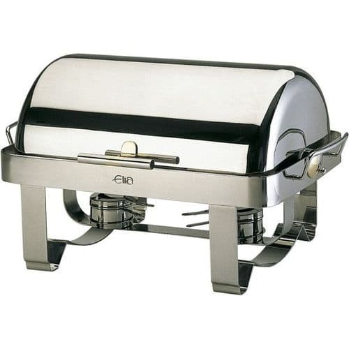 Deluxe Oblong Roll-Top Chafing Dish / Steel Legs