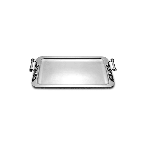 Deluxe Rectangular Stainless Steel Serving Tray