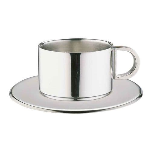 Deluxe Stainless Steel Expressor Cup & Saucer Set - 0.10L