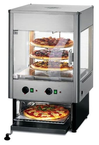 Electric Upright Heated Merchandiser with Oven With Rotating Shelves