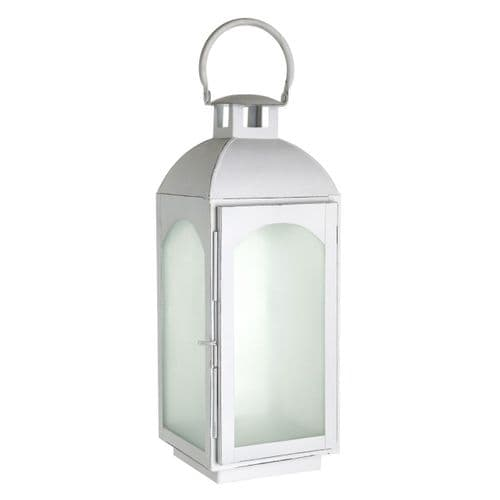 ForgWhite Frosted Glass Lantern - H45cm