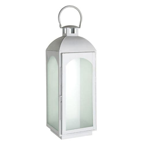 ForgWhite Frosted Glass Lantern - H50cm