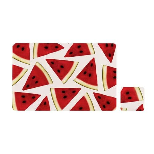 Fruity Watermelon Placemats& Coasters - Set of 4