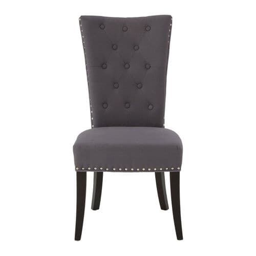 Hamilton Charcoal Buttoned Dining Chair