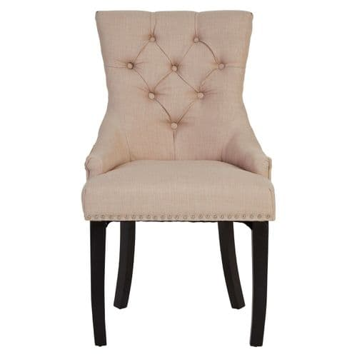 Hamilton Front Diamond Pattern Natural Dining Chair