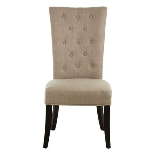 Hamilton Natural Buttoned Dining Chair