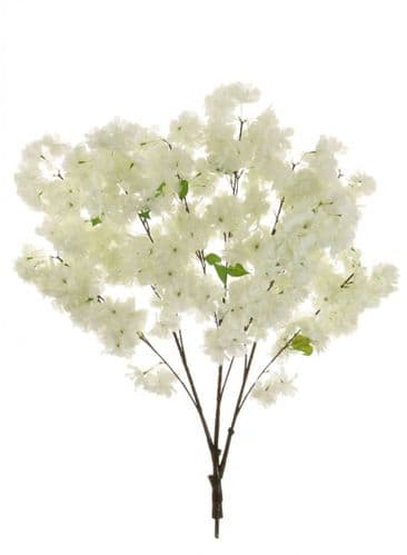Ivory Cherry Blossom Artificial Tree Branch - 2 Pieces