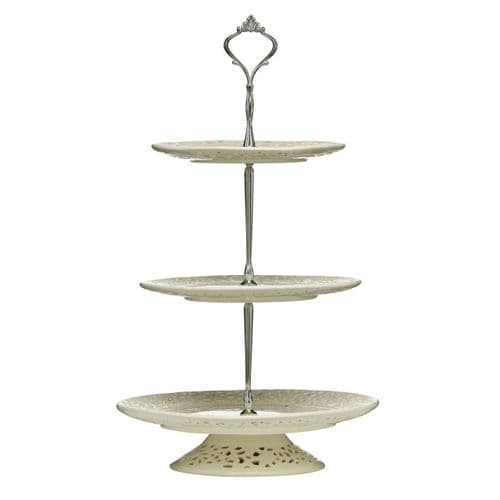 Lace Ceramic 3 Tier Cake Stand