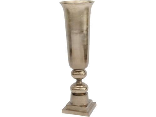 Large Stained Gradient Bronze Straight Vase / Urn - 85cm