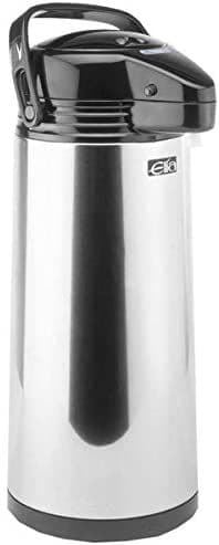 Linear Stainless Steel GLASS LINED Airpot - Push Button 2.5L