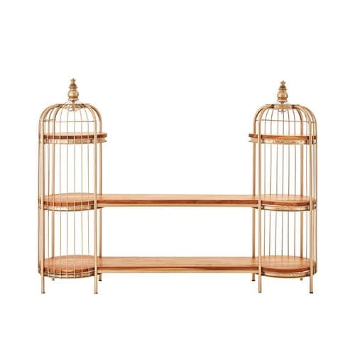 Melrose Champagne Double Birdcage Shelf