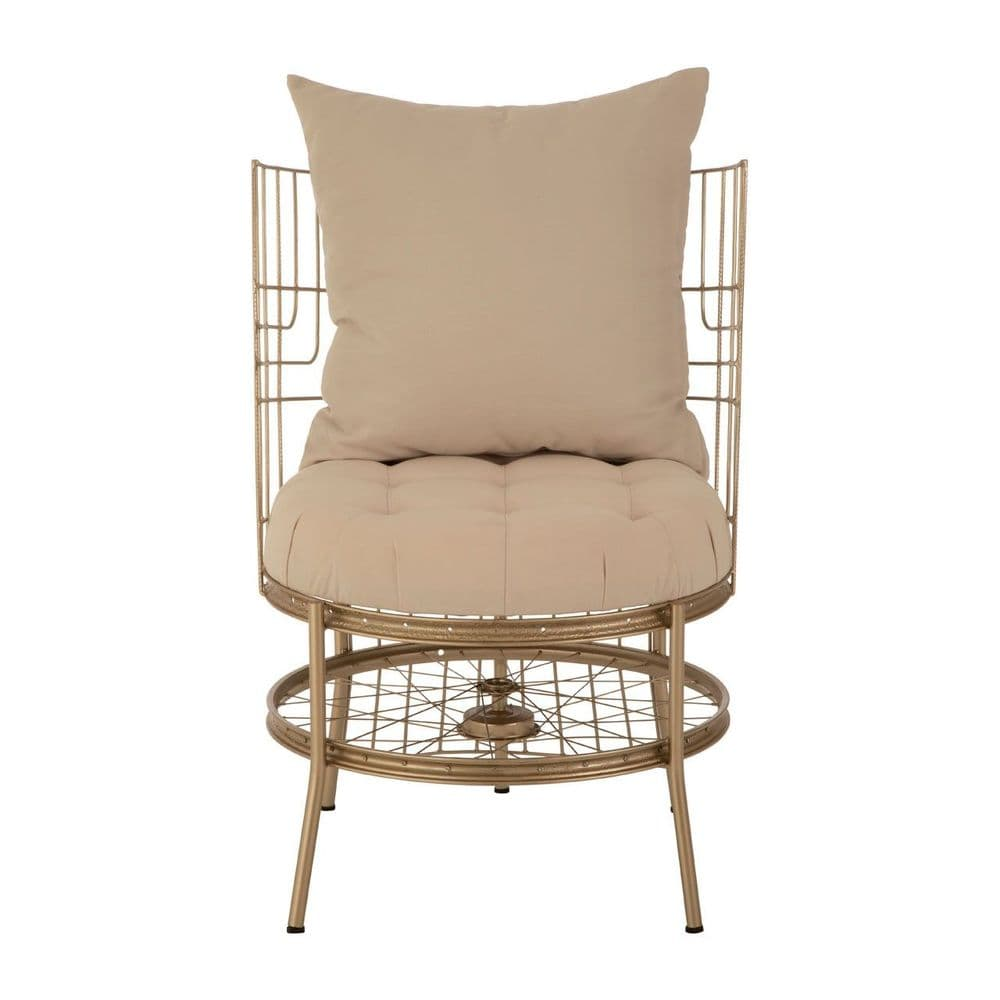 Melrose Champagne Gold Bicycle Chair