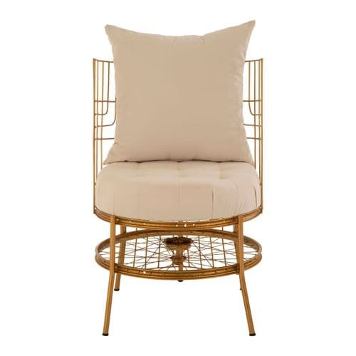 Melrose Gold Bicycle Chair