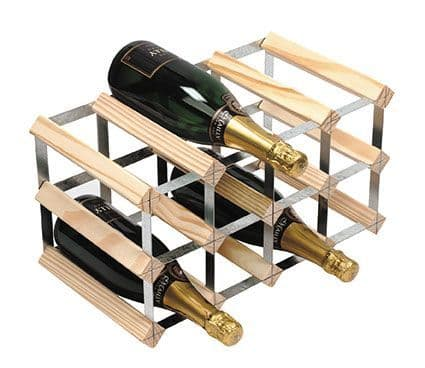 Natural Pine 12 Bottle Wine / Champagne Rack