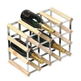 Natural Pine 16 Bottle Wine / Champagne Rack