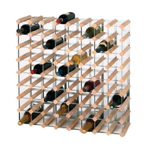 Natural Pine 72 Bottle Wine / Champagne Rack