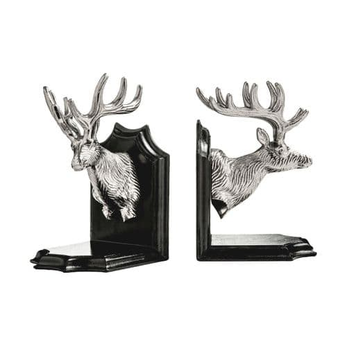 Nickel Stag Head Bookend