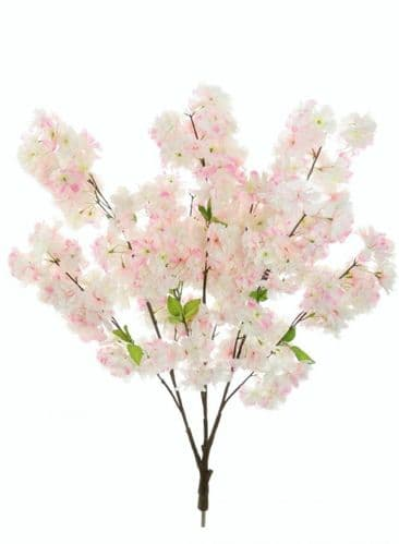 Pink Cherry Blossom Artificial Tree Branch - 2 Pieces