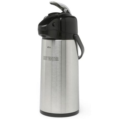 Polar Stainless Steel GLASS LINED Airpot / Lever Type 1.9L ETCHED HOT WATER