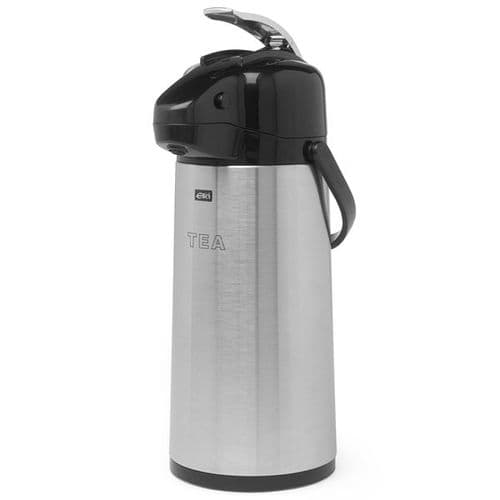 Polar Stainless Steel GLASS LINED Airpot / Lever Type 1.9L ETCHED TEA