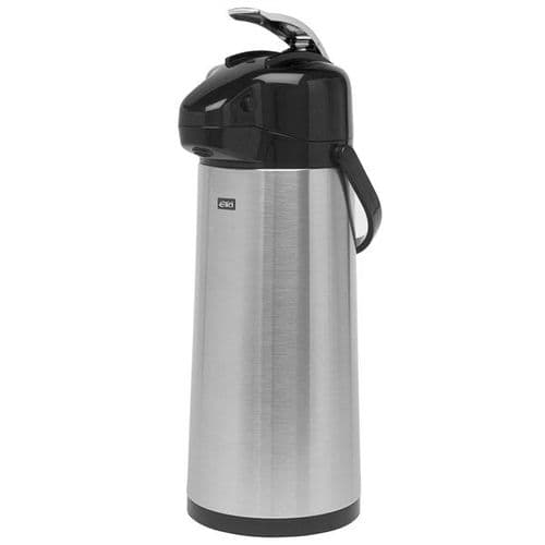 Polar Stainless Steel GLASS LINED Airpot / Lever Type 2.5L