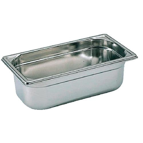 Premier Stainless Steel Gastronorm Pan - 1/3 Third Size. 15cm