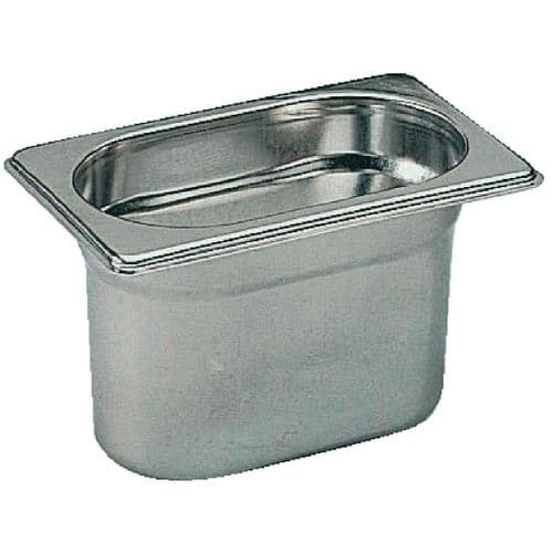 Premier Stainless Steel Gastronorm Pan - Ninth 1/9 10cm