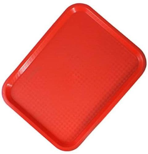Red RectangularCanteen Service Tray - MORE OPTIONS